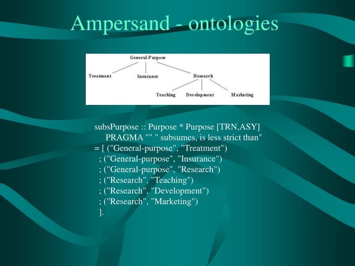 Ampersand - ontologies