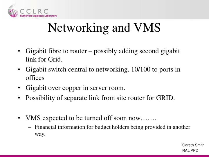 Networking and VMS