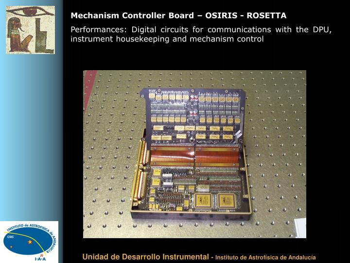 Mechanism Controller Board – OSIRIS - ROSETTA