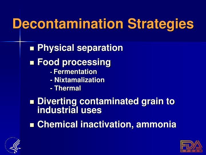 Decontamination Strategies