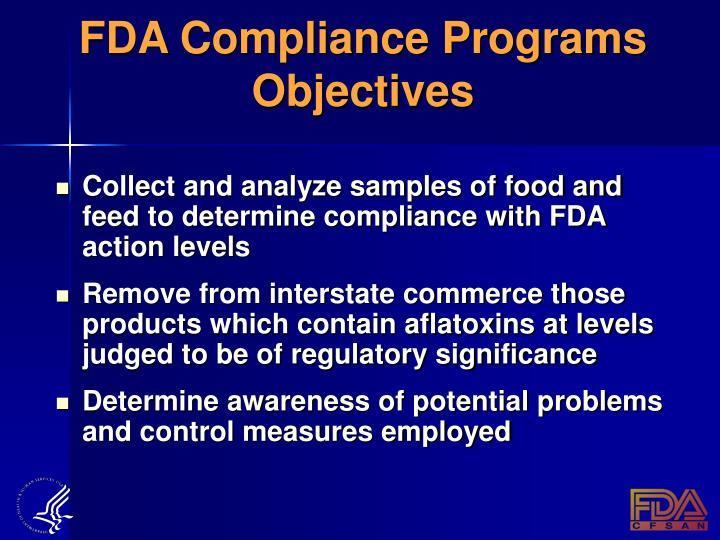 FDA Compliance Programs Objectives