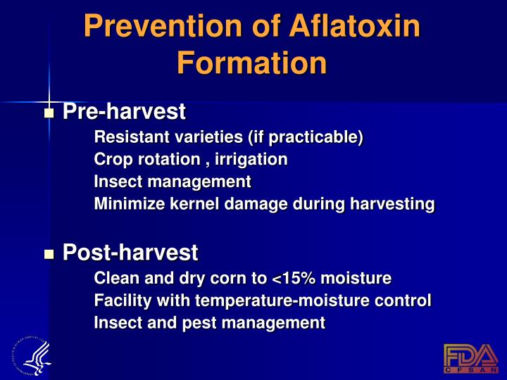 Prevention of Aflatoxin Formation