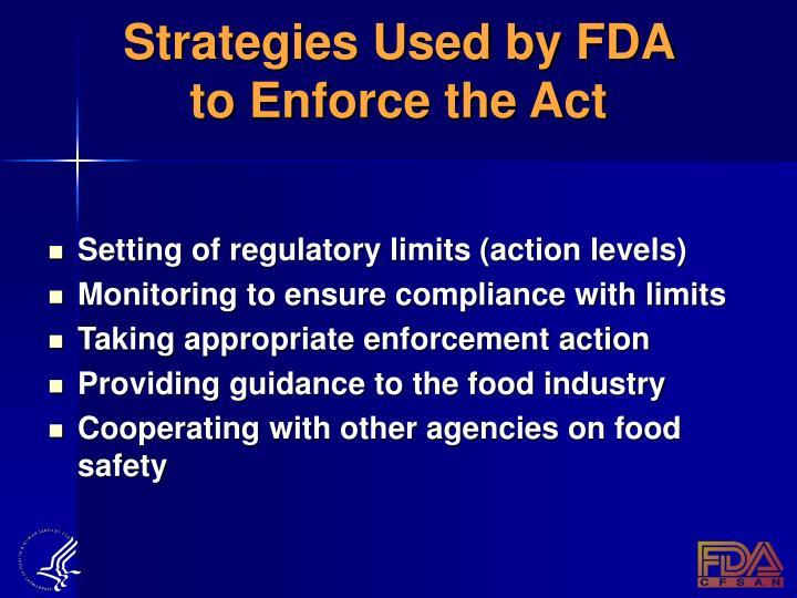 Strategies Used by FDA