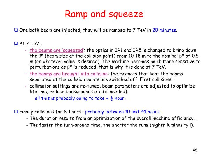 Ramp and squeeze