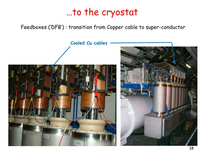 …to the cryostat