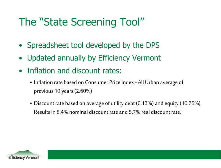 The state screening tool