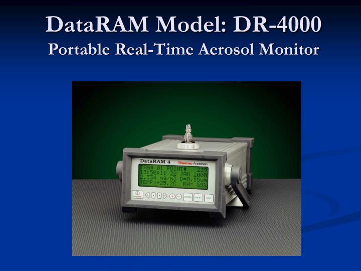 DataRAM Model: DR-4000