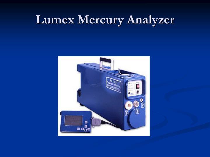 Lumex Mercury Analyzer