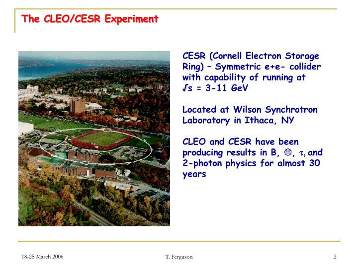 The cleo cesr experiment