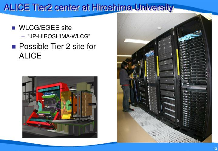 ALICE Tier2 center at Hiroshima University