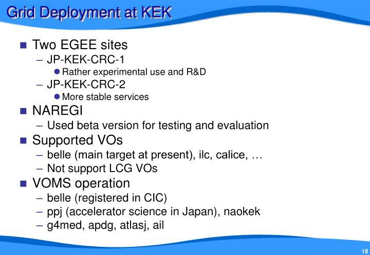 Grid Deployment at KEK