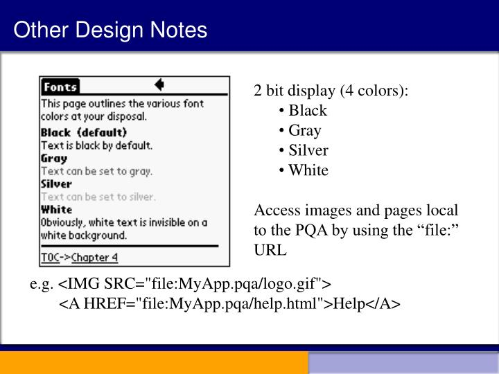 Other Design Notes