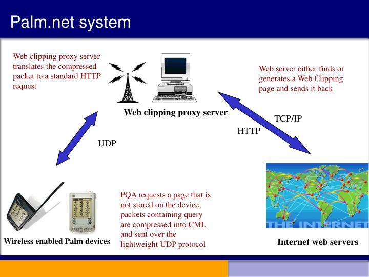 Palm.net system