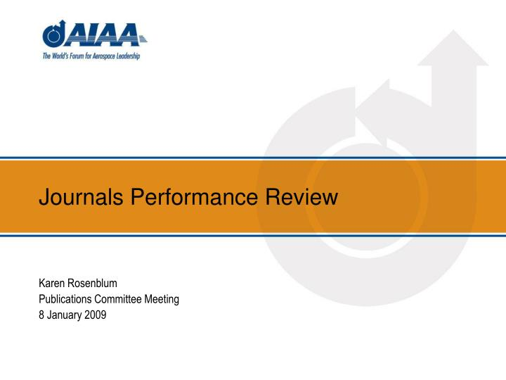 journals performance review n.
