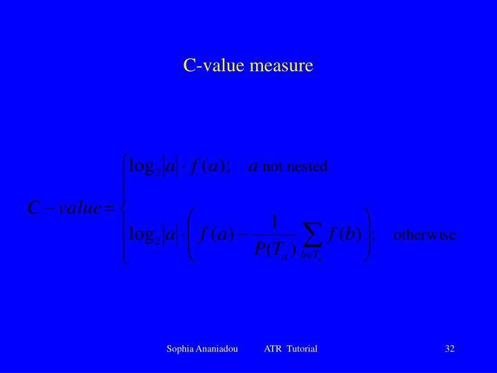 C-value measure