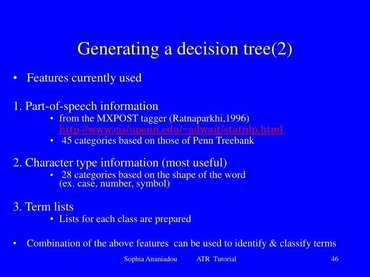 Generating a decision tree(2)