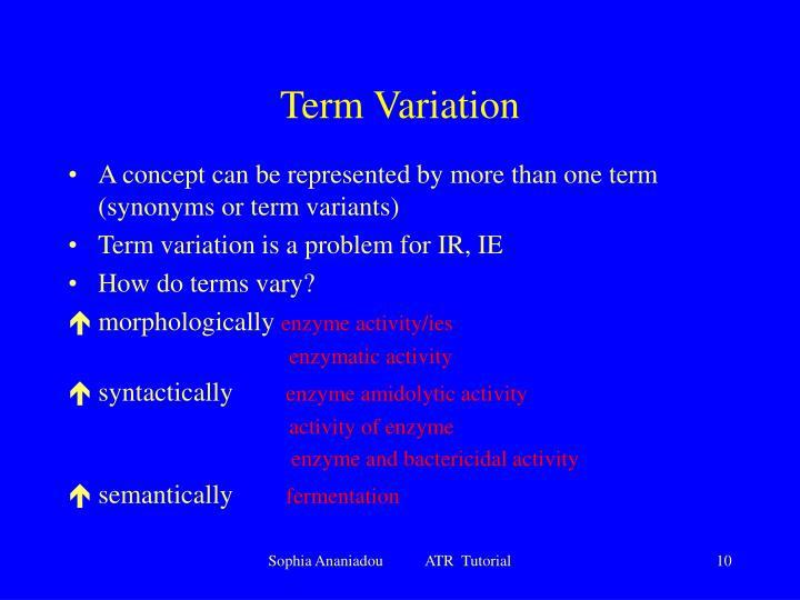 Term Variation