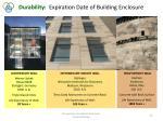 durability expiration date of building enclosure