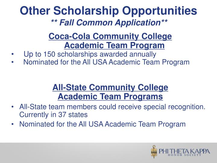 Other Scholarship Opportunities