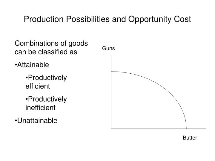 Production possibilities and opportunity cost1