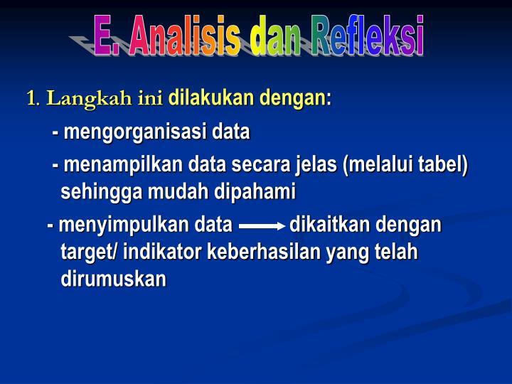 E. Analisis dan Refleksi