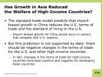 has growth in asia reduced the welfare of high income countries