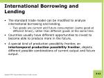 international borrowing and lending