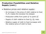 production possibilities and relative supply cont