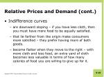 relative prices and demand cont