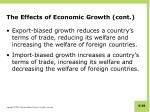 the effects of economic growth cont3
