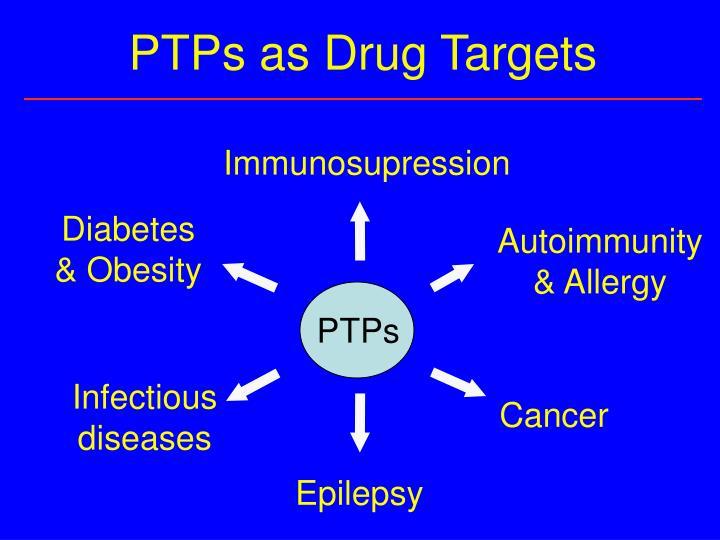 PTPs as Drug Targets