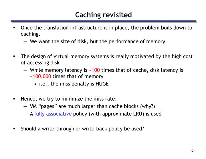 Caching revisited