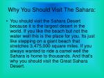 why you should visit the sahara