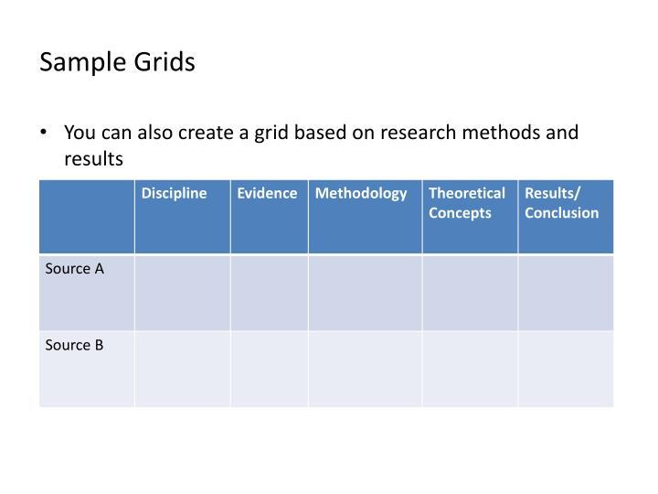 Sample Grids