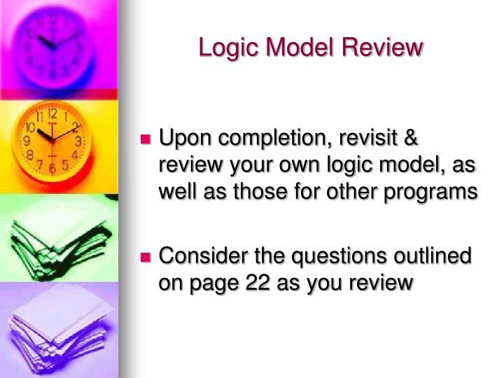Logic Model Review