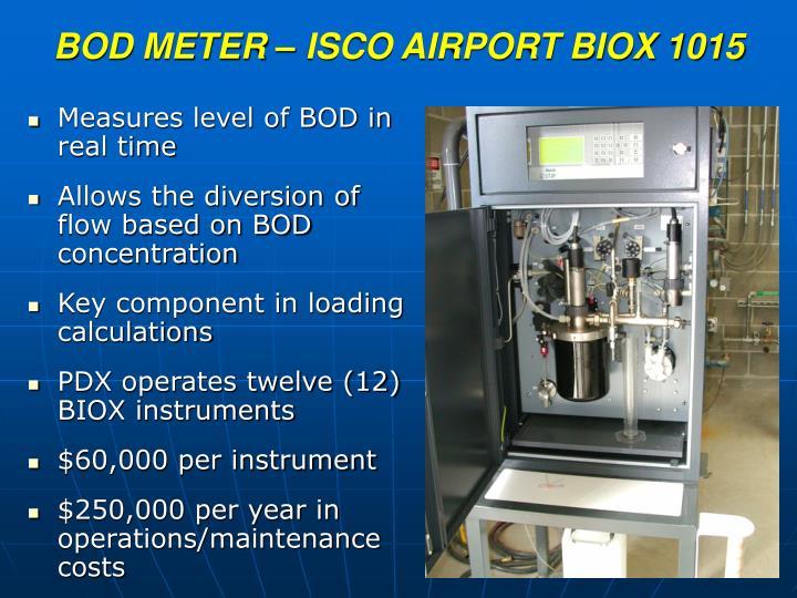 BOD METER – ISCO AIRPORT BIOX 1015