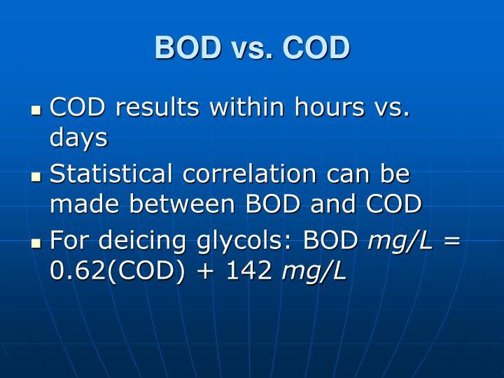 BOD vs. COD