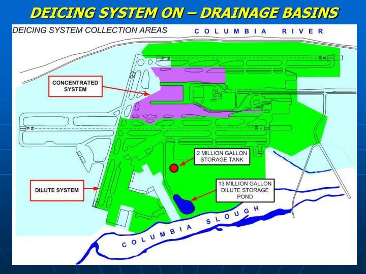 DEICING SYSTEM ON – DRAINAGE BASINS