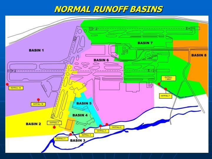 NORMAL RUNOFF BASINS