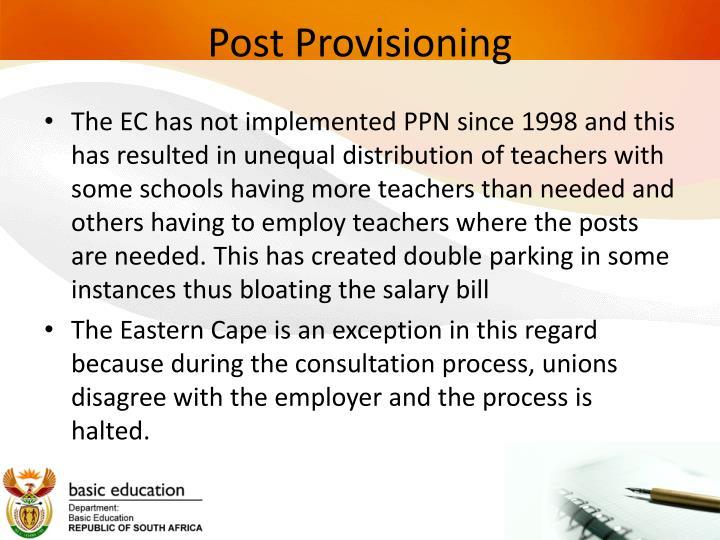 Post provisioning1