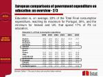 european comparisons of government expenditure on education an overview 2 3