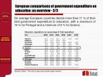 european comparisons of government expenditure on education an overview 3 3
