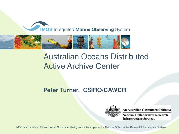 australian oceans distributed active archive center n.
