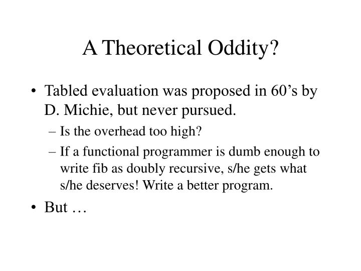A Theoretical Oddity?
