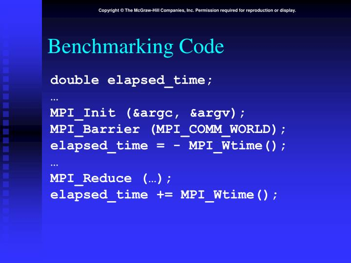 Benchmarking Code