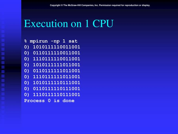 Execution on 1 CPU