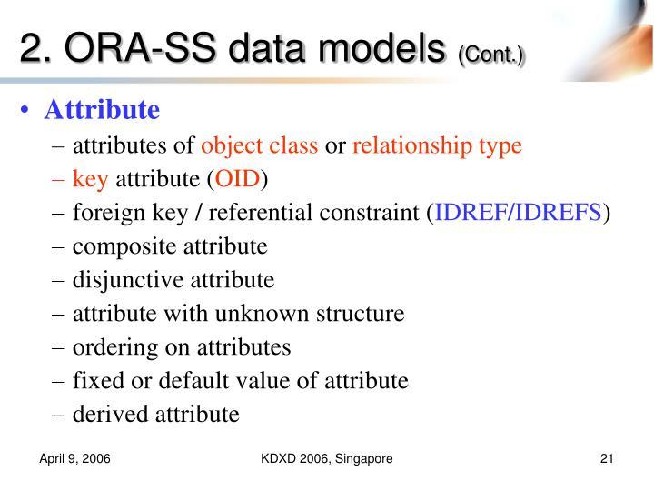 2. ORA-SS data models