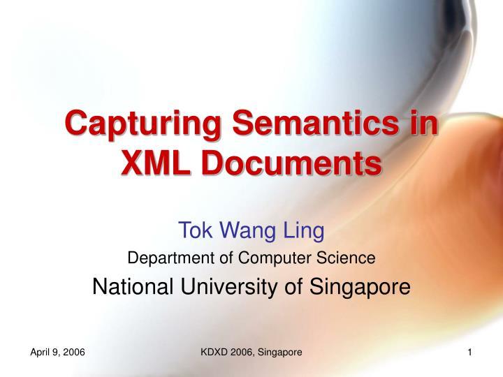 Capturing semantics in xml documents