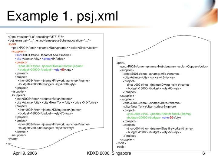 Example 1. psj.xml