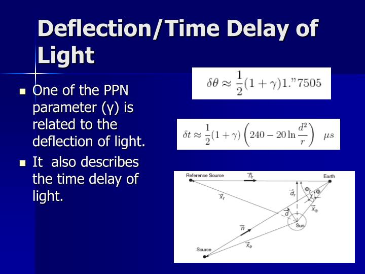 Deflection/Time Delay of Light